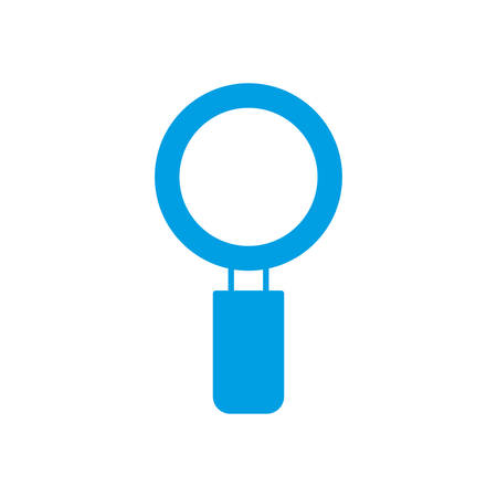 inspect: magnifying glass icon over white background vector illustration