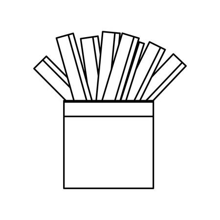 fried: French fries fast fodd icon vector illustration graphic design Illustration