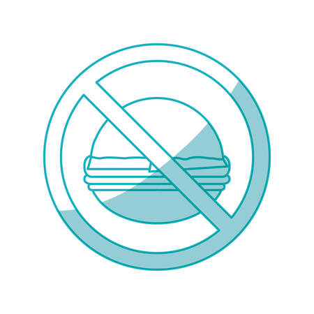 fried: Fast food prohibited icon vector illustration graphic design Illustration