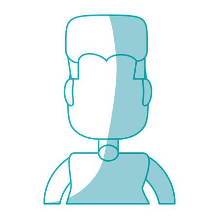 abdomen women: Fat man cartoon icon vector illustration graphic design