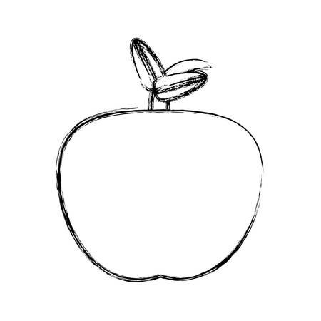 Delicious apple fruit icon vector illustration graphic design Illustration