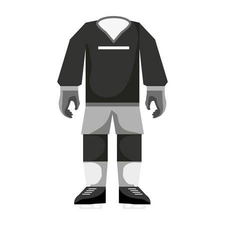 Voetbal sport draag pictogram vector illustratie grafisch ontwerp