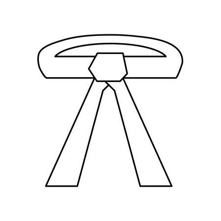 Karate belt wear icon vector illustration graphic design