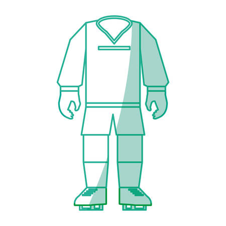 soccer goal: Soccer sport wear icon vector illustration graphic design Illustration