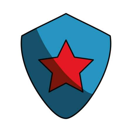 Star on shield symbol icon vector illustration graphic design Illustration