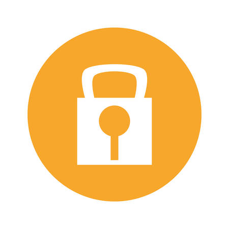 Padlock security symbol icon vector illustration graphic design