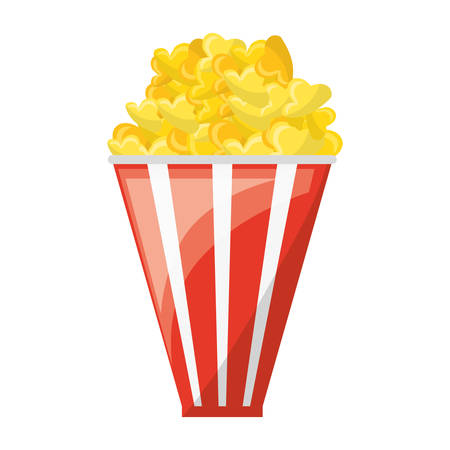 Popcorn cinema snack icon vector illustration graphic design