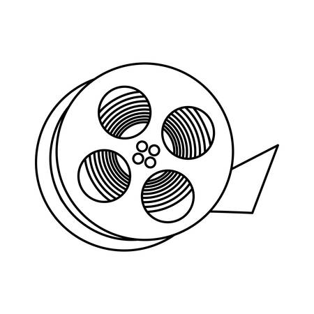 Movie reel equipment icon vector illustration graphic design Illustration