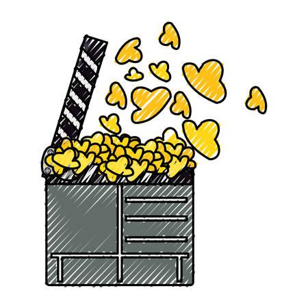 Cinema clapboard symbol icon vector illustration graphic design