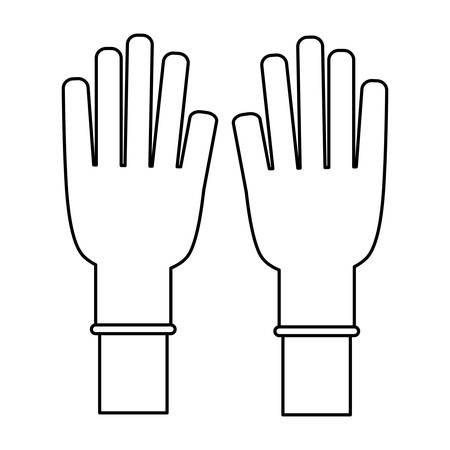 doctor gloves: Medical gloves product icon vector illustration graphic design