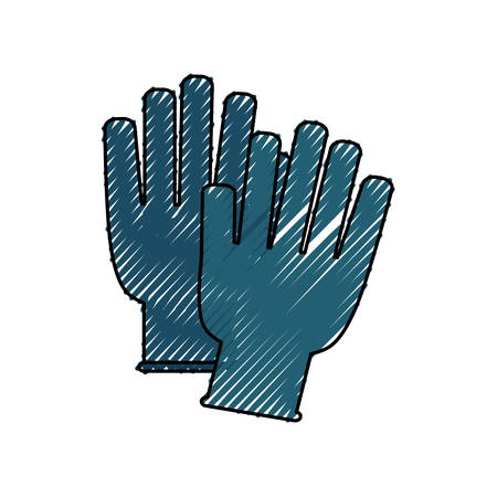Medical gloves ISOLATED icon vector illustration graphic design Illustration