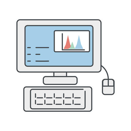 scale: Desk computer symbol icon vector illustration graphic design