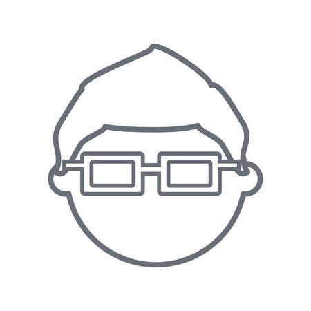 Kid faceless cartoon icon vector illustration graphic design Stock Vector - 82190028