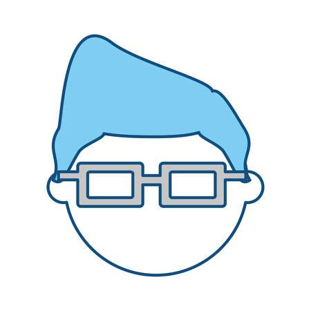 Kid faceless cartoon icon vector illustration graphic design Illustration
