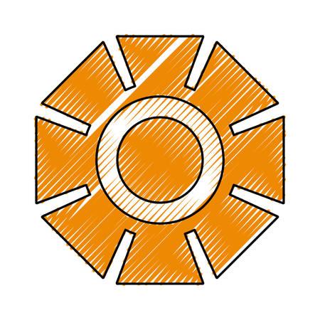 Gear machinery symbol icon vector illustration graphic design Illustration