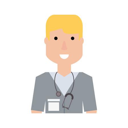 blondie: Cute doctor cartoon icon vector illustration graphic design