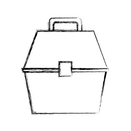 spinning: Fisherman box isolated icon vector illustration graphic design Illustration