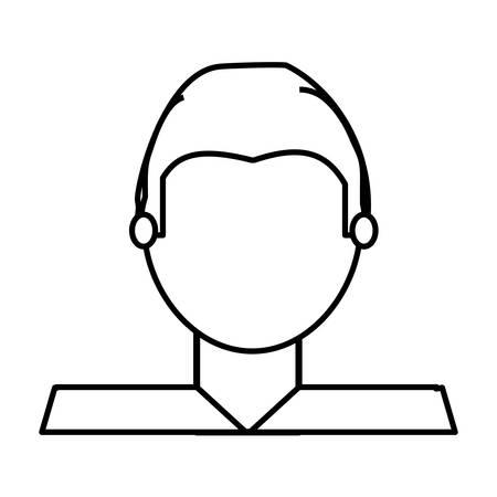 Man faceless avatar icon vector illustration graphic design Illustration