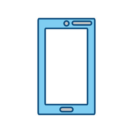 hand touch: Smartphone mobile technology icon vector illustration graphic design