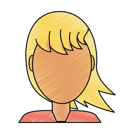 blondie: Woman faceless avatar icon vector illustration graphic design