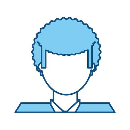 hapiness: Man faceless avatar icon vector illustration graphic design Illustration
