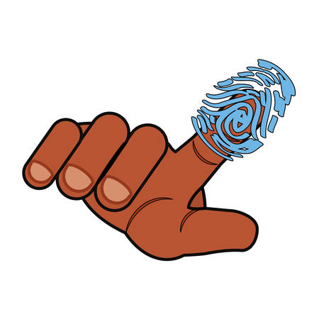 fingermark: Finger print symbol icon vector illustration graphic design Illustration