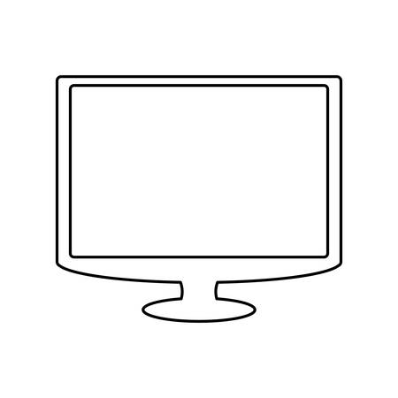 lcd tv: TV screen technology icon vector illustration graphic design