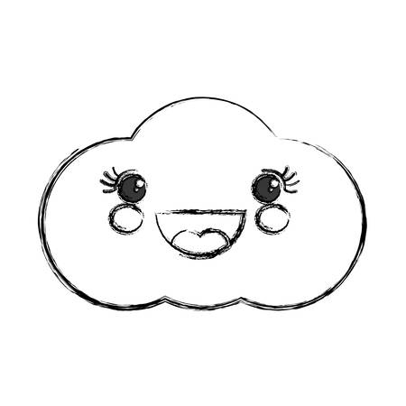 wireless icon: Cute cloud cartoon icon vector illustration graphic design