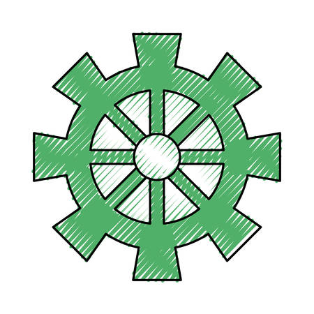 piece: Gear machinery piece icon vector illustration graphic design