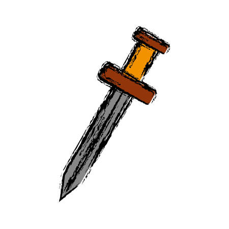 old people: sword icon over white background vector illustration