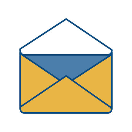 postmark: envelope icon over white background vector illustration
