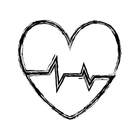 rate: cardio heart icon over white background vector illustration