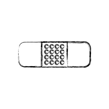 cures: adhesive bandage icon over white background vector illustration