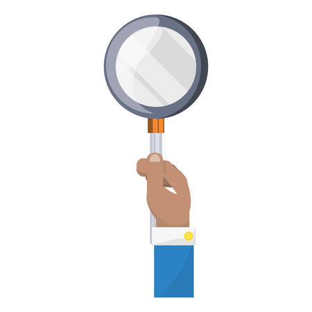 lass: Magnifying glass loupe icon vector illustration graphic design
