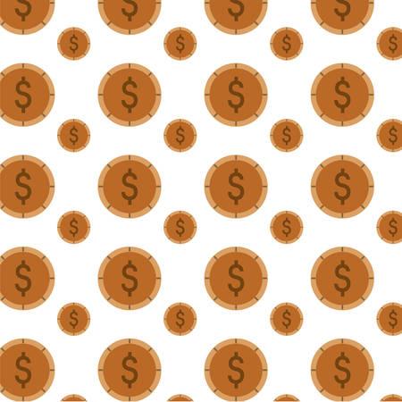 Money coins background icon vector illustration graphic design Illustration