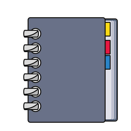Address book isolated icon vector illustration graphic design
