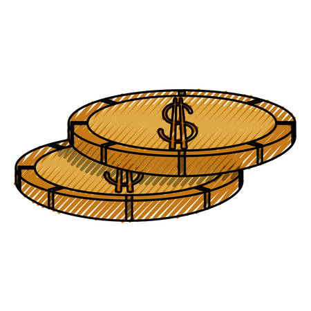 Money coins isolated icon vector illustration graphic design