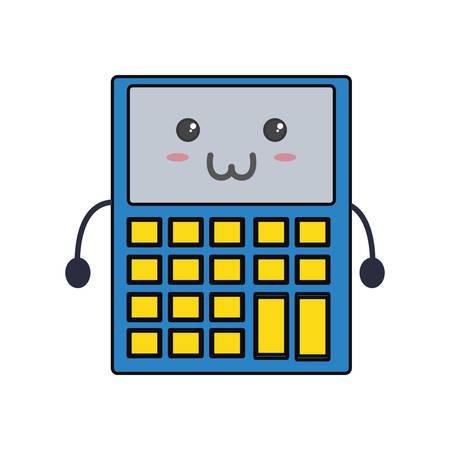 Cute calculator icon vector illustration graphic design