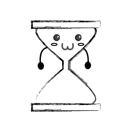 Cute hour glass icon vector illustration graphic design