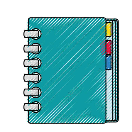 Adress book isolated icon vector illustration graphic design.