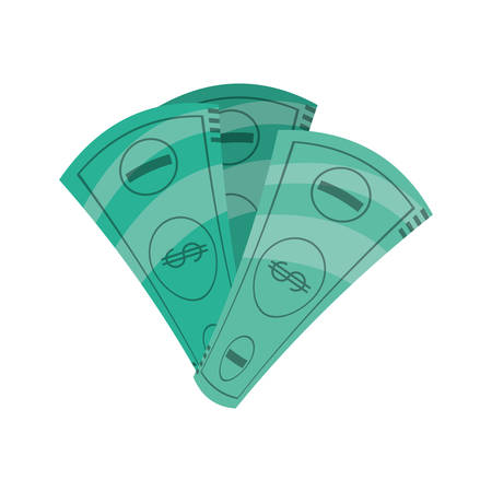 Money billets isolated icon vector illustration graphic design