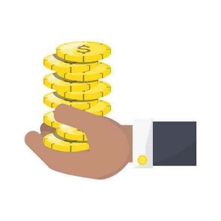 Money coins isolated icon vector illustration Illustration
