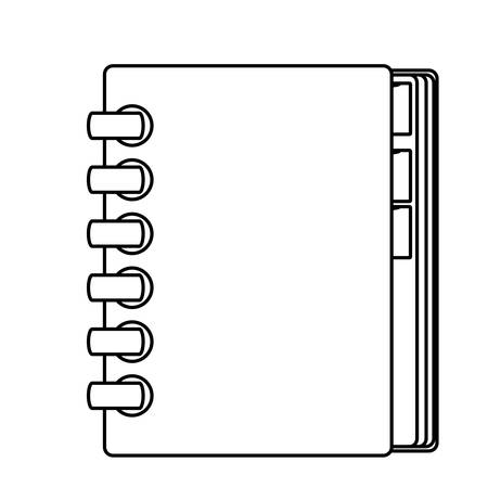 Adress book isolated icon vector illustration