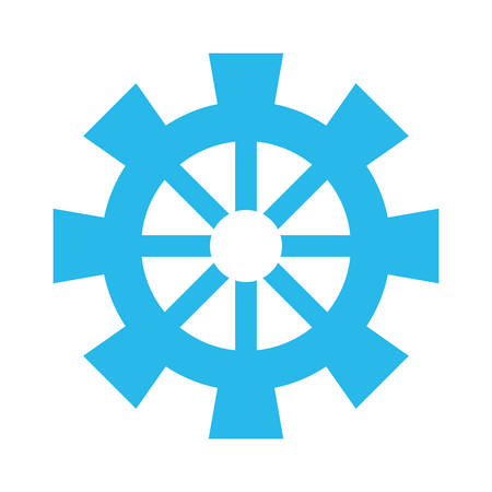 machinery: Gear machinery piece icon vector illustration