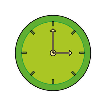 Wall clock isolated icon vector illustration graphic design