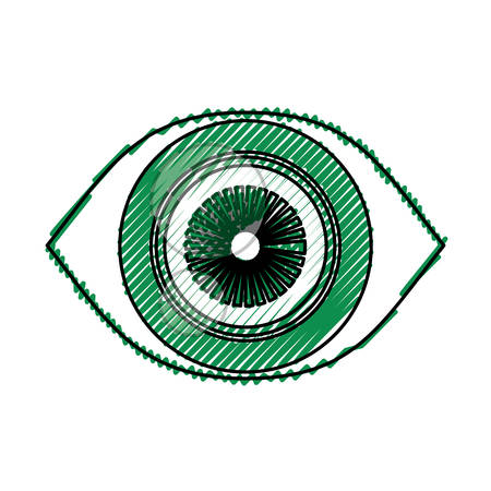 Surveillance eye symbol icon vector illustration graphic design Illustration