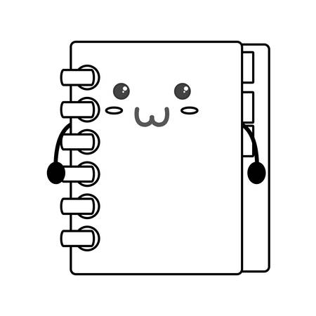 Adress book kawaii icon vector illustration graphic design Illustration