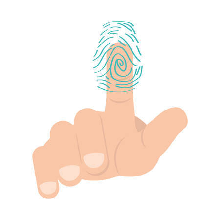 Finger print symbol icon vector illustration Illustration
