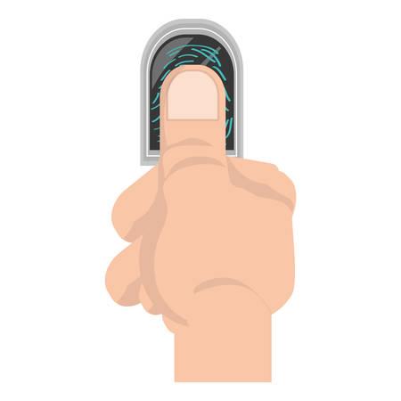 fingermark: Finger print symbol icon vector illustration Illustration