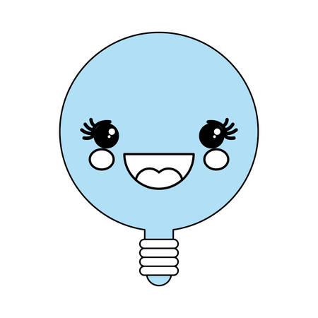 Cute bulb icon illustration graphic design.